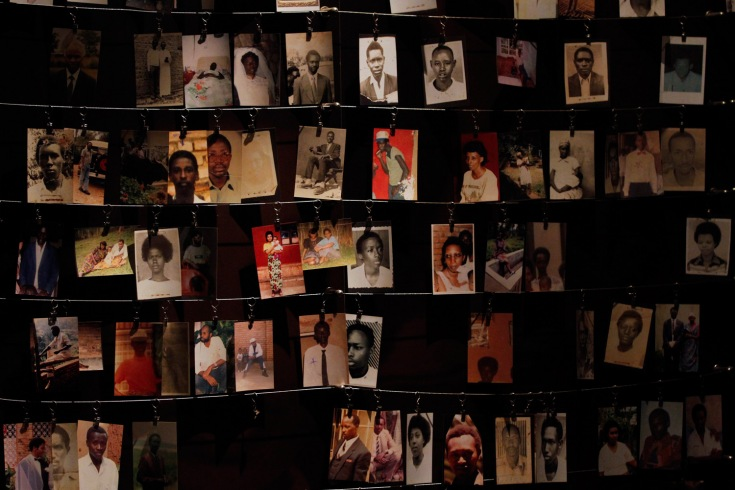 Photographs of victims of the Rwandan Genocide, Genocide Memorial Centre, Kigali, Rwanda, Africa