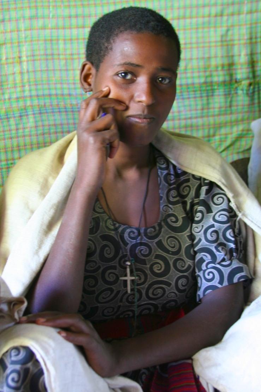 Woman near Addis Ababa, Ethiopia, Africa