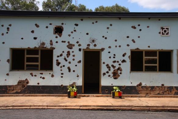 Memorial to murdered Belgian Peacekeepers, Kigali, Rwanda, Africa