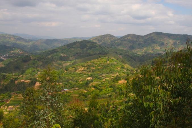Rwanda landscape, Rwanda, Africa
