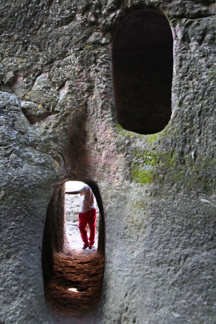 A tunnel between churches in Lalibela, Ethiopia, Africa