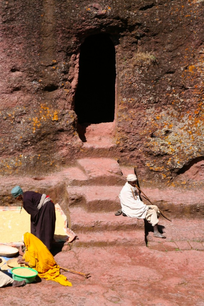 Ancient passageway, Lalibela, Ethiopia, Africa