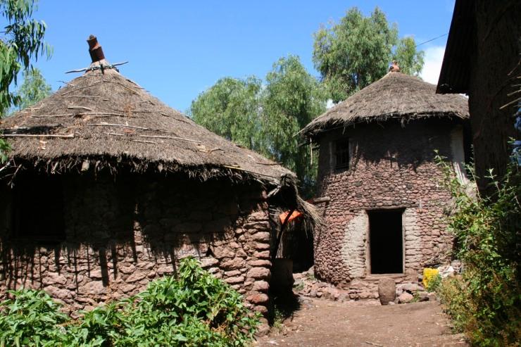 Traditional houses, Lalibela, Ethiopia, Africa