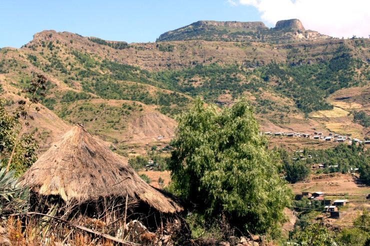 Countryside surrounding Lalibela, Ethiopia, Africa