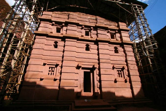 Rock-hewn church, Lalibela, Ethiopia, Africa