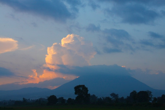 Sunset over the Volcanoes National Park, Ruhengeri, Rwanda, Africa