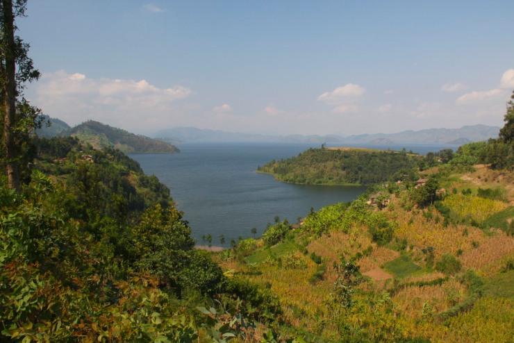 View over Lake Burera, Ruhengeri, Rwanda, Africa
