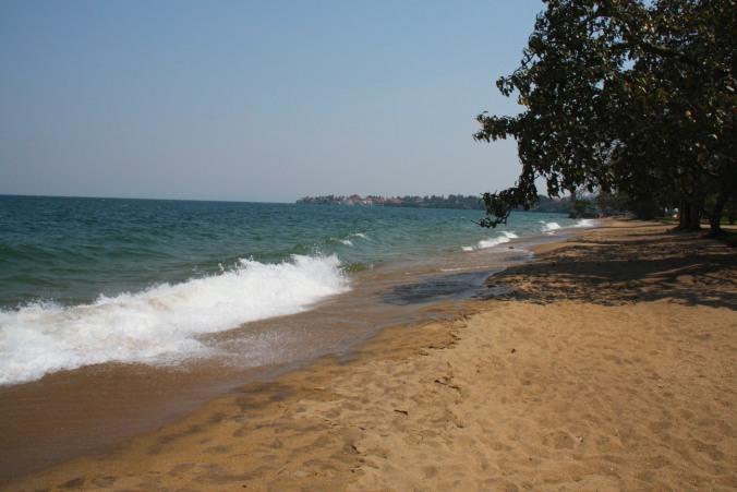 The public beach in Gisenyi, Rwanda, Africa