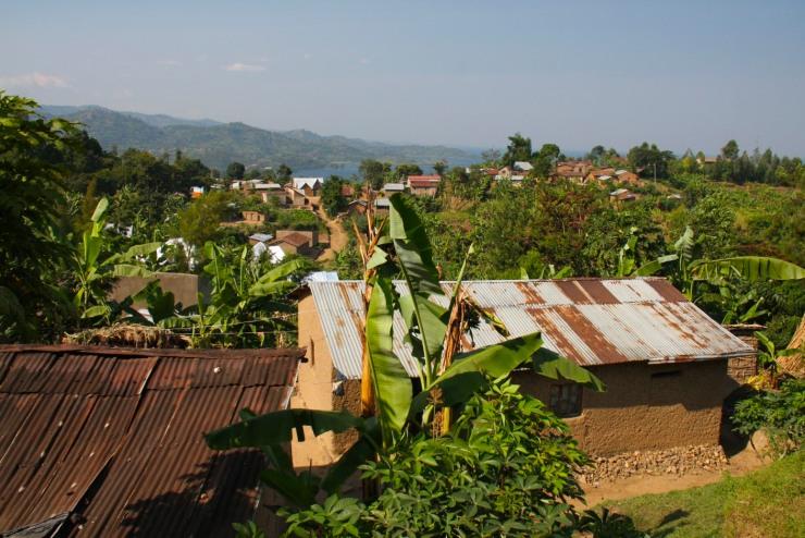 Typical countryside near Gisenyi, Rwanda, Africa