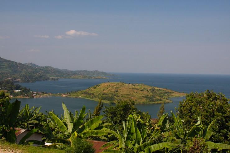 Lake Kivu near Gisenyi, Rwanda, Africa