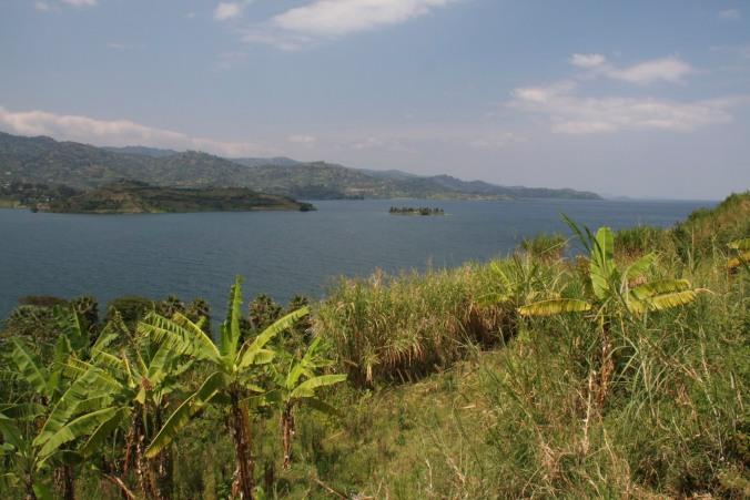 View over Lake Kivu, Kibuye, Rwanda, Africa