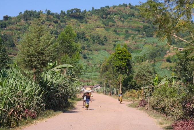 The road from Gisenyi to Kibuye, Rwanda, Africa