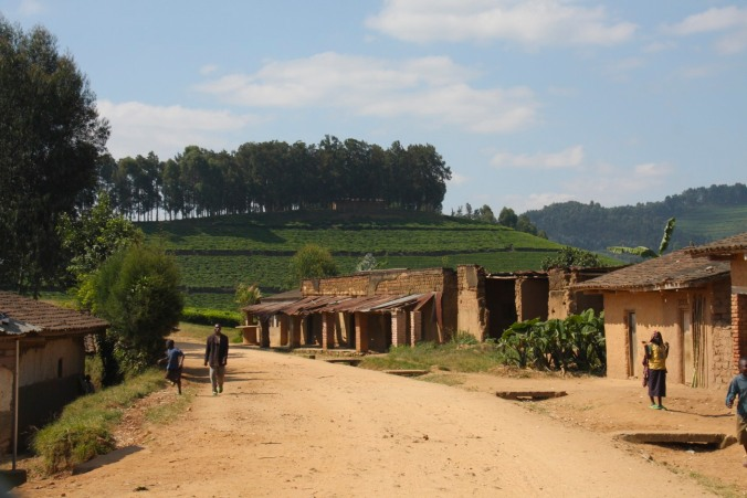 A village on the road from Gisenyi to Kibuye, Rwanda, Africa