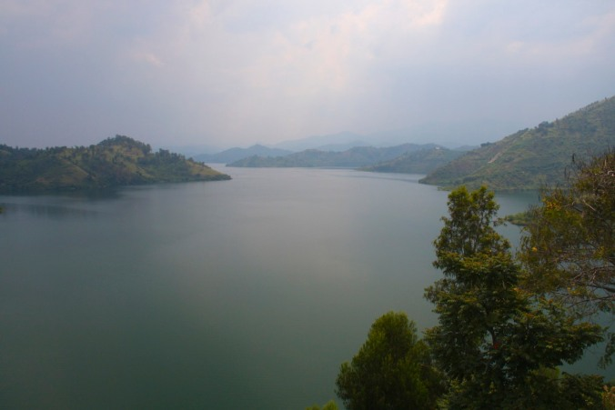 View over Lake Kivu from St. Jean Catholic Church, Kibuye, Rwanda, Africa