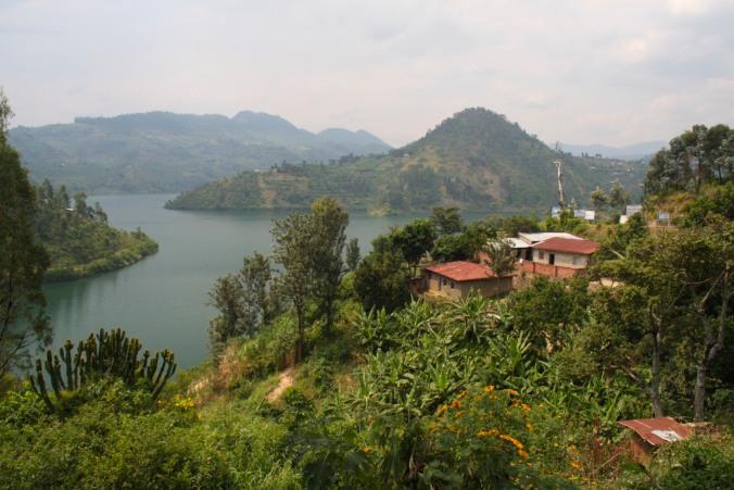 Houses in Kibuye, Rwanda, Africa