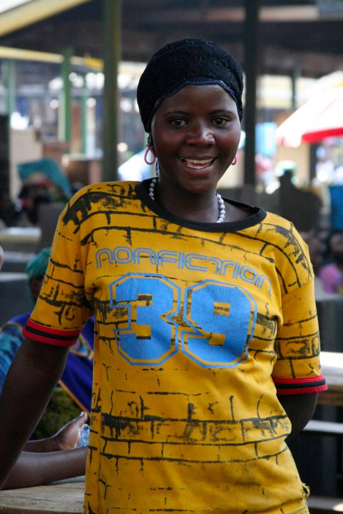 Young woman in the market, Kampala, Uganda, Africa