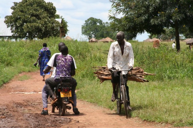 Motorbike and bicycle, Internal Displacement Camp, Gulu, Uganda, Africa