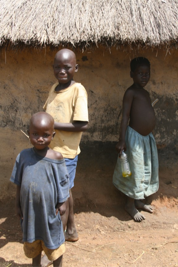 Children in Internal Displacement Camp, Gulu Region, Uganda, Africa