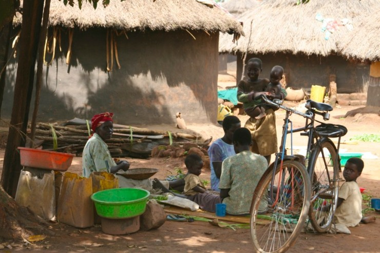 Women and children, Internal Displacement Camp, Gulu, Uganda, Africa