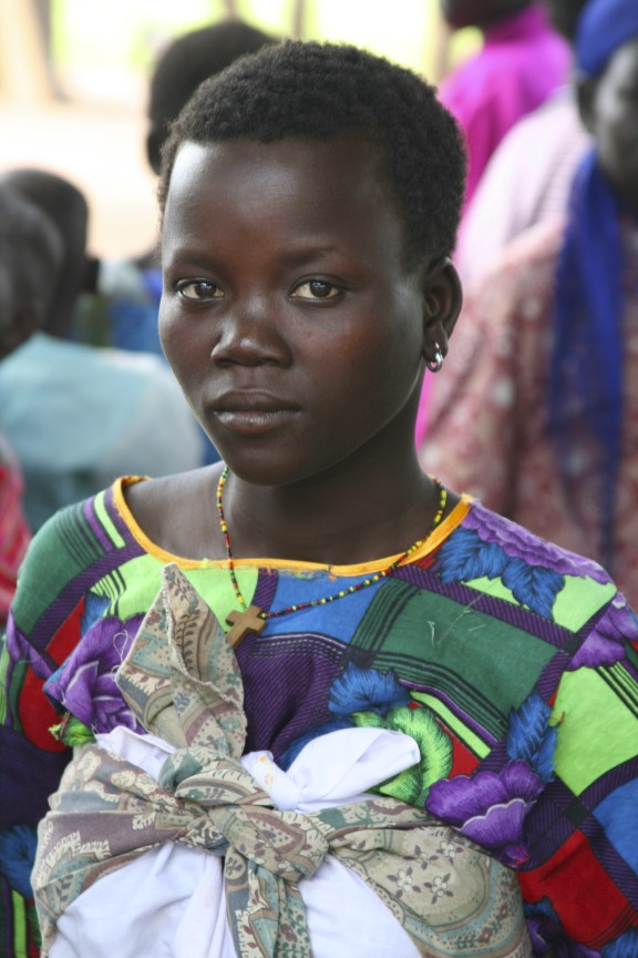 Young woman, Internal Displacement Camp, Gulu Region, Uganda, Africa