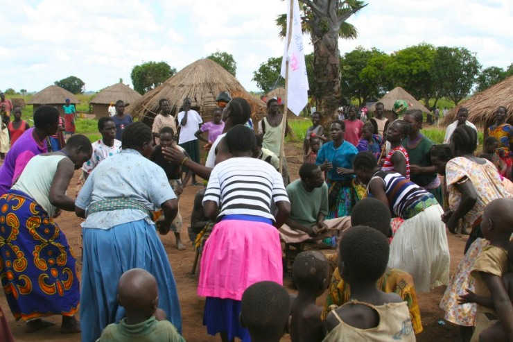 Music and dance, Internal Displacement Camp, Gulu, Uganda, Africa