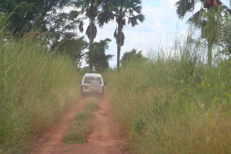 High speed through the countryside, Gulu, Uganda, Africa