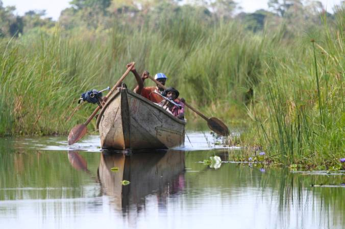 Boat on Lake Victoria, Uganda, Africa