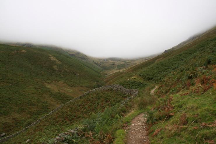 Towards Grasmere, Fairfield Horseshoe, Lake District, Cumbria, England