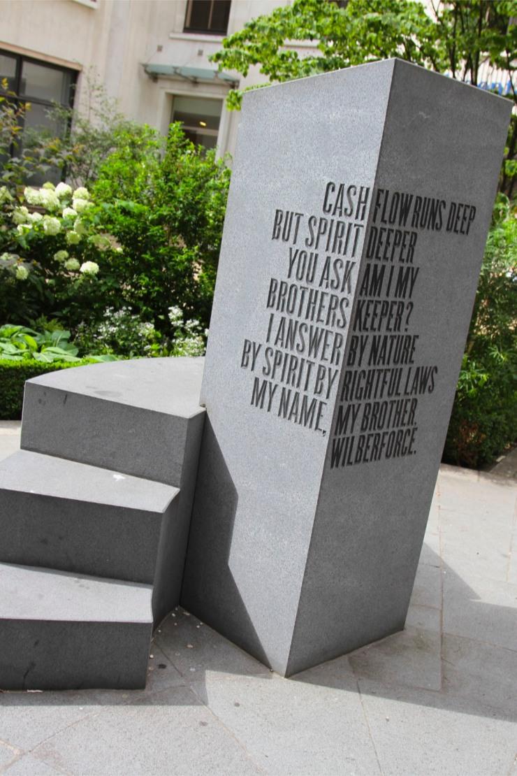 Memorial to the Trans-Atlantic Slave Trade, London, England