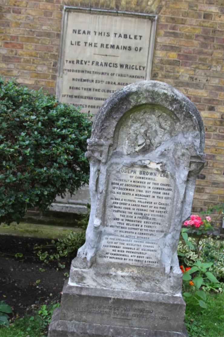 Grave, Wesley's Chapel, London, England