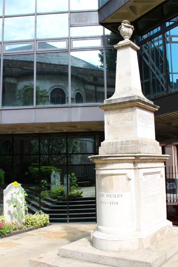 John Wesley's grave, Wesley's Chapel, London, England
