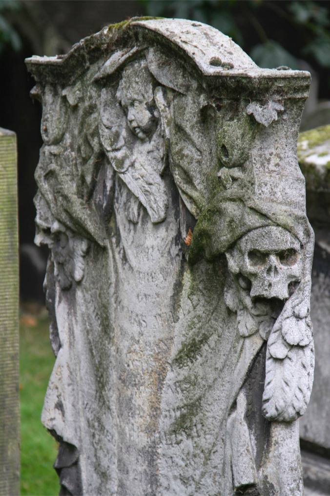 Grave in Bunhill Fields, London, England