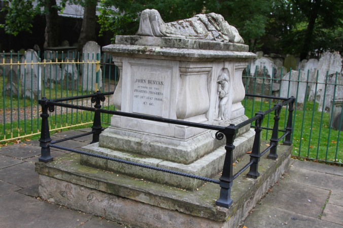 John Bunyan's grave in Bunhill Fields, London, England