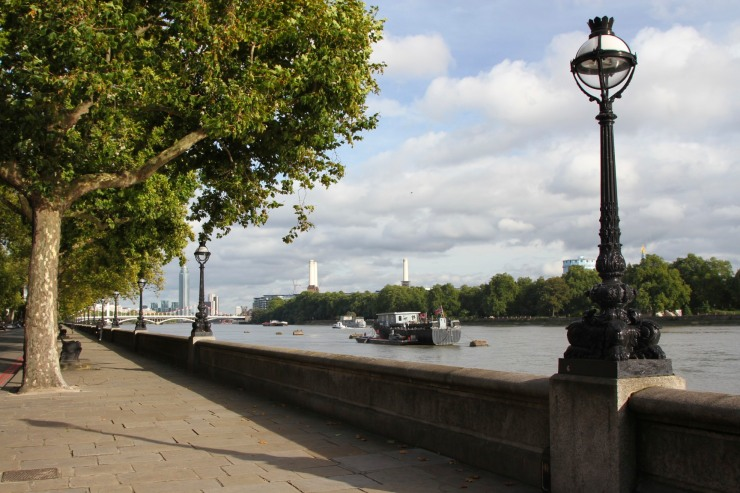 River Thames opposite Battersea Park, London, England