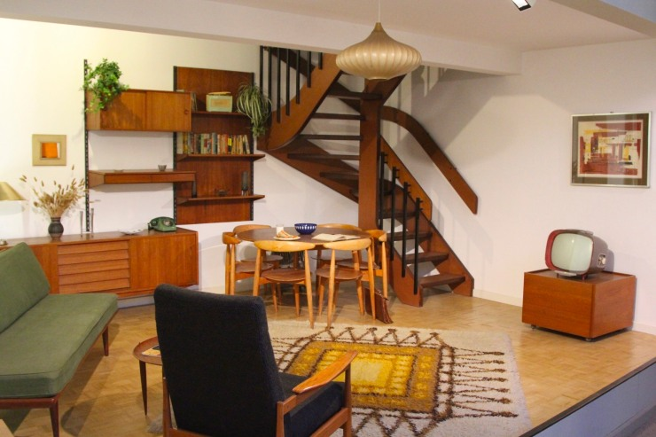 1950s living room, Geffrye Museum, London, England