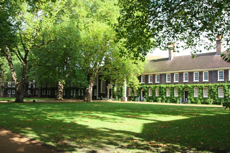 The almshouses of the Geffrye Museum, London, England