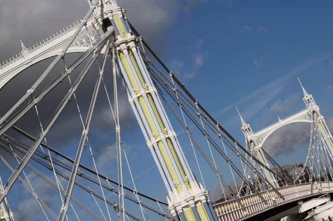 Albert Bridge, Battersea, London, England