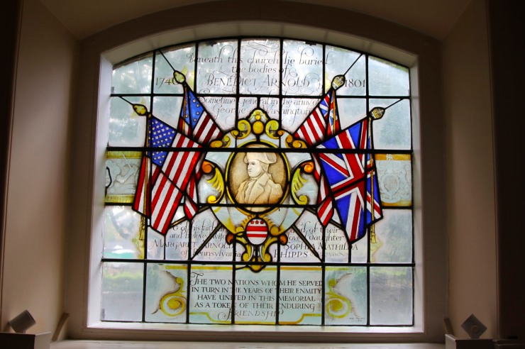 Benedict Arnold window, St. Mary's Church, Battersea, London, England