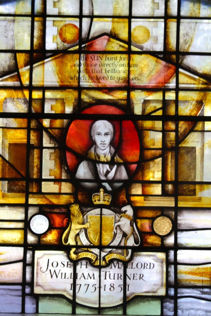 J.M.W. Turner window, St. Mary's Church, Battersea, London, England