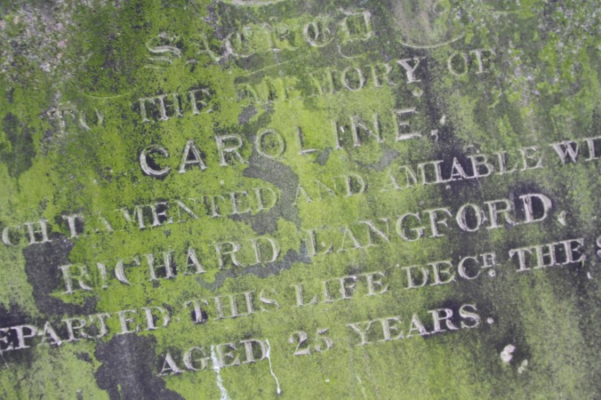 Gravestone, St. Mary's Church, Battersea, London, England