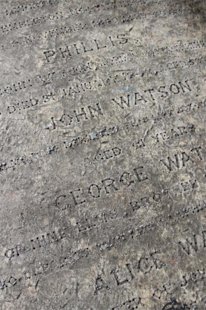 Gravestone, St. Mary's Church, Battersea, London, England