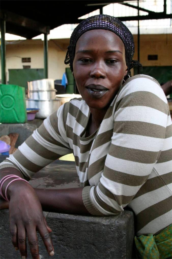 Vendor, Owino Market, Kampala, Uganda, Africa