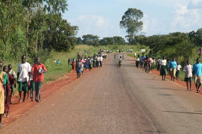 The main road from Kampala to Iganga, Uganda, Africa