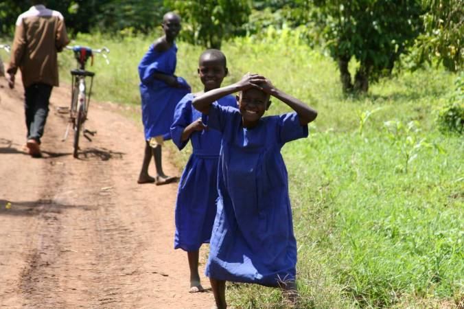 Young girls in the countryside, Iganga, Uganda, Africa