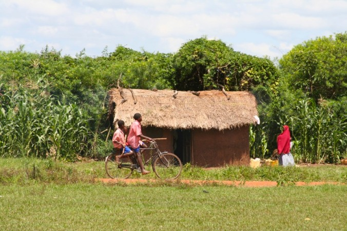Rural cyclists, Iganga, Uganda, Africa