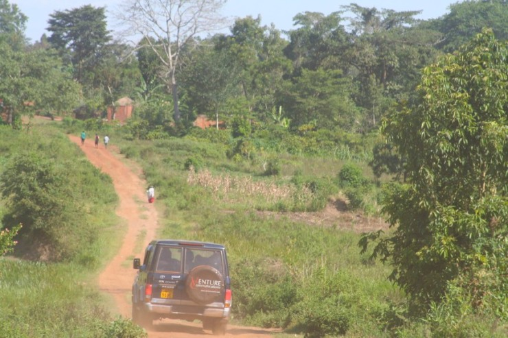 The dirt road into the countryside, Iganga, Uganda, Africa