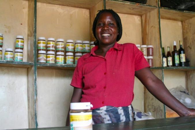 Bigodi Peanut Butter Project, Kibale Forest National Park, Uganda, Africa
