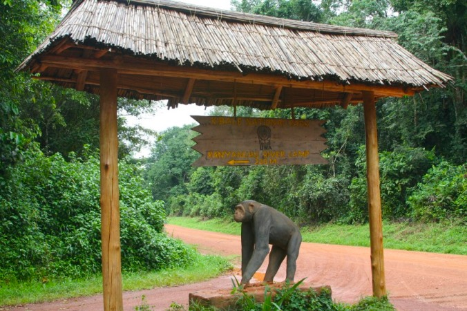 Entrance to Kibale Forest National Park, Uganda, Africa
