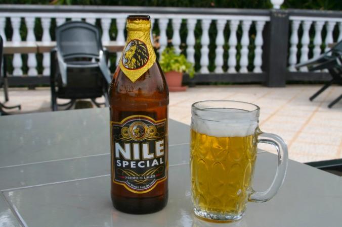 Nile Special beer, Lake Victoria, Uganda, Africa