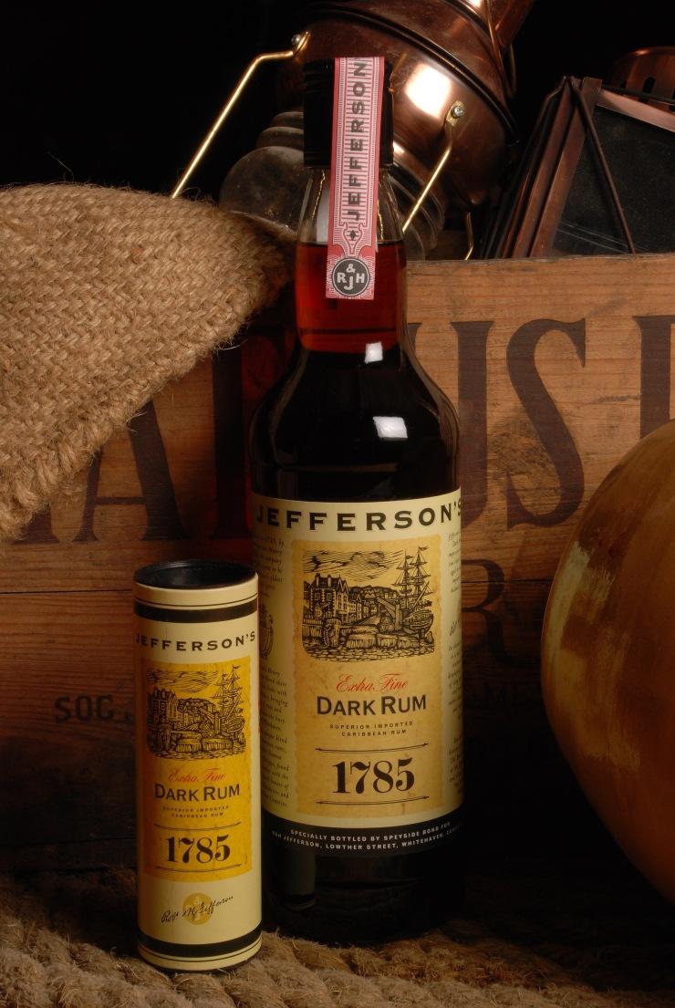 Jefferson's 1785 Dark Rum, The Rum Story, Whitehaven, Cumbria, England